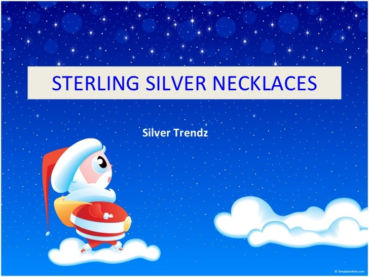 STERLING SILVER NECKLACES Silver Trendz