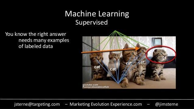 jsterne@targeting.com – Marketing Evolution Experience.com – @jimsterne Machine Learning Supervised cat cat cat cat You kn...