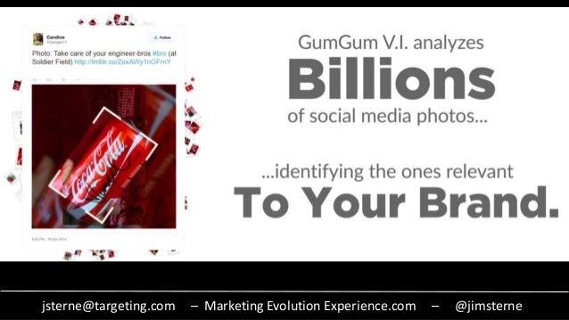 jsterne@targeting.com – Marketing Evolution Experience.com – @jimsterne