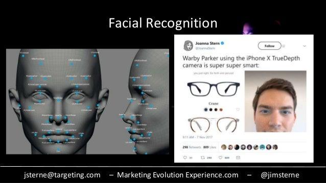 jsterne@targeting.com – Marketing Evolution Experience.com – @jimsterne Facial Recognition