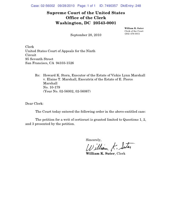 Case: 02-56002 09/28/2010 Page: 1 of 1        ID: 7490357 DktEntry: 248                Supreme Court of the United States ...