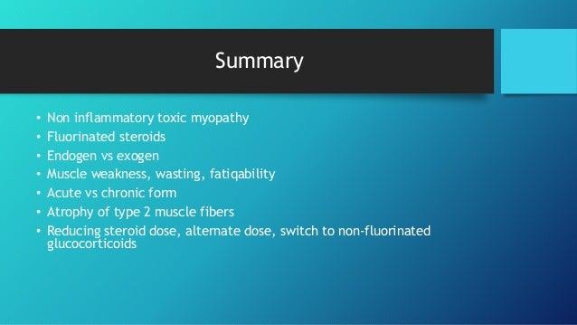 steroid myopathy prognosis