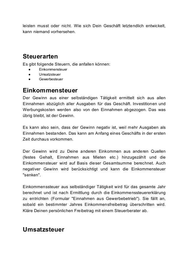 Gemütlich Selbständiger Steuerabzüge Arbeitsblatt Ideen - Super ...