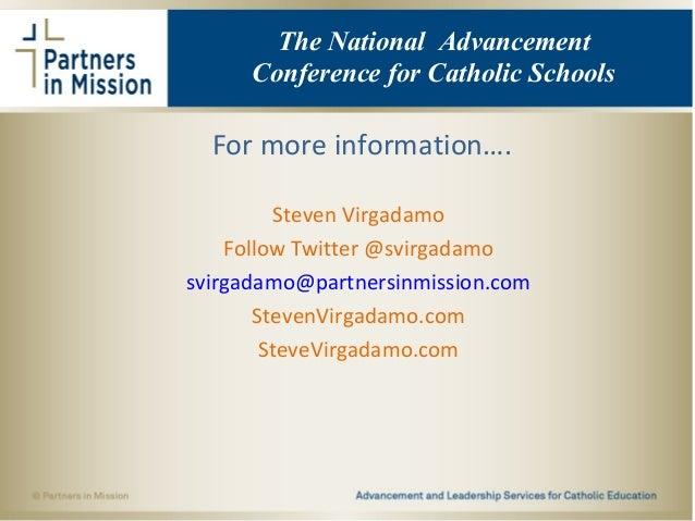 For more information…. Steven Virgadamo Follow Twitter @svirgadamo svirgadamo@partnersinmission.com StevenVirgadamo.com St...