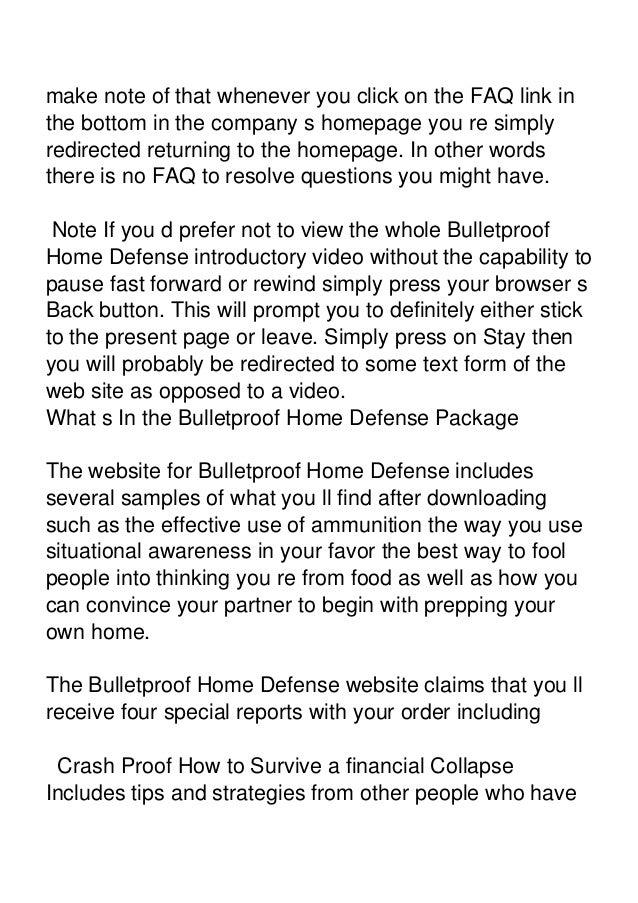 Steve walker bulletproof home defense examples fandeluxe Choice Image