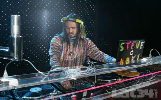 Steve Aoki (Steve Aoki Hiroyuki, nacido el 30 de noviembre de 1977) es un DJ, músico, y productor musical estadounidense d...