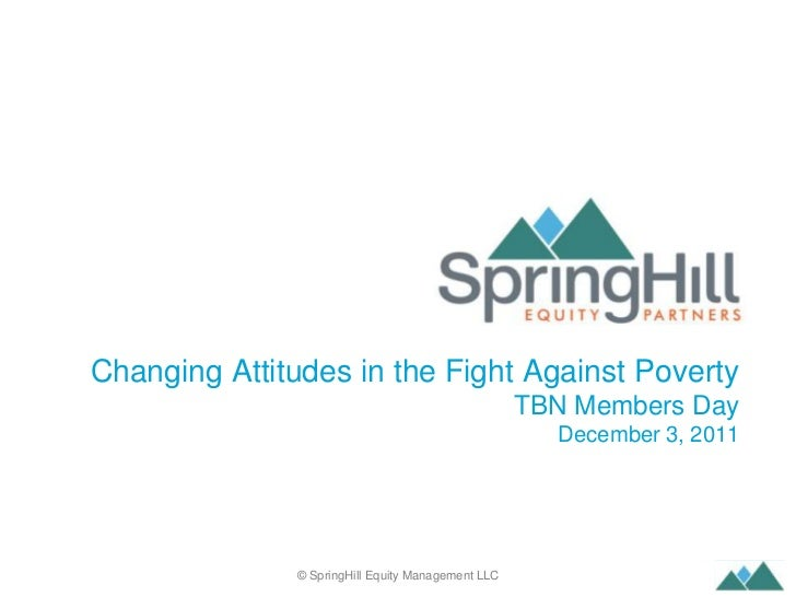 Changing Attitudes in the Fight Against Poverty                                                       TBN Members Day     ...