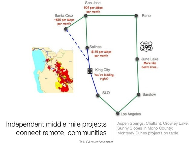 Independent middle mile projects connect remote communities Aspen Springs, Chalfant, Crowley Lake, Sunny Slopes in Mono Co...