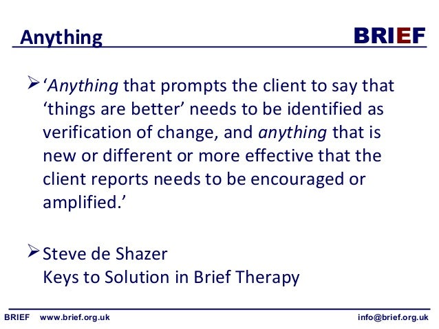 solution focused brief therapy iveson chris george evan ratner harvey