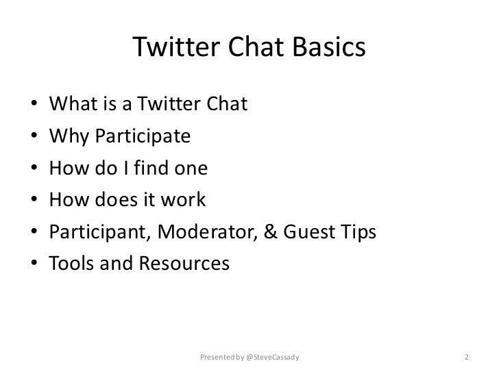 Steve Cassady twitter chats presentation