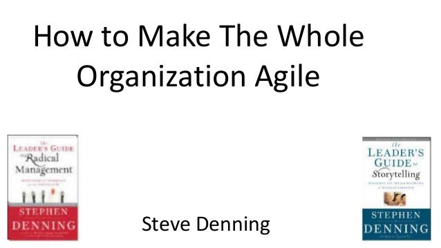 How to Make The Whole Organization Agile Steve Denning