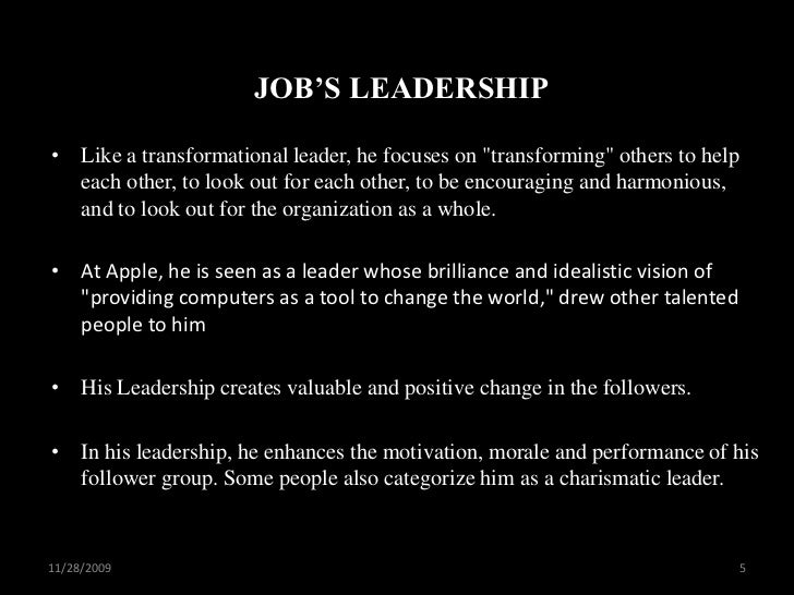 Gandhi, MLK and Steve Jobs Transformational and Transactional Leaders