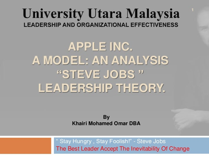 Steve jobs leadership style and analysis