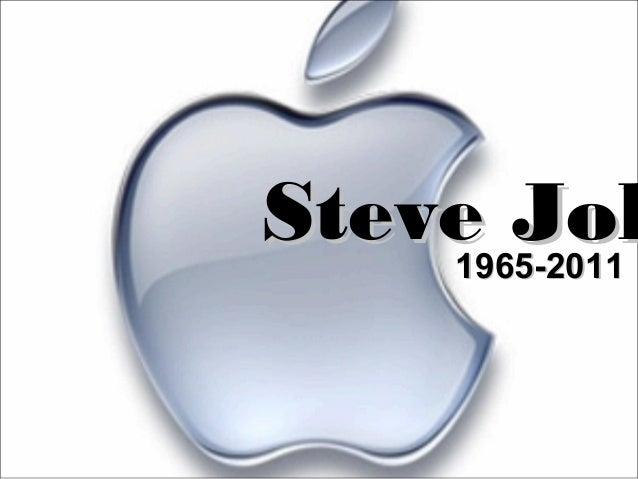 Steve JobSteve Job1965-20111965-2011