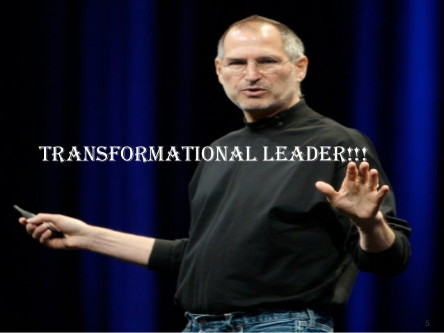 steve jobs transformational leadership Famous example: martin luther king jr transactional leadership relies on setting clear objectives and goals for followers, using incentives or penalties for failing to achieve them famous example: steve jobs (adapted from the business dictionary) is your leadership style transformational or transactional.
