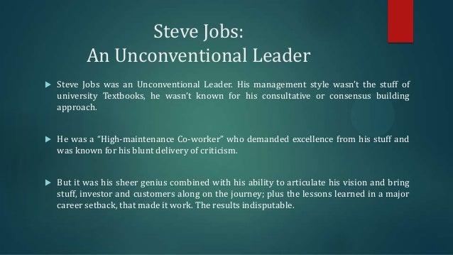 steve jobs leadership style ppt