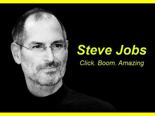 Steve Jobs  Click.  Boom.  Amazing