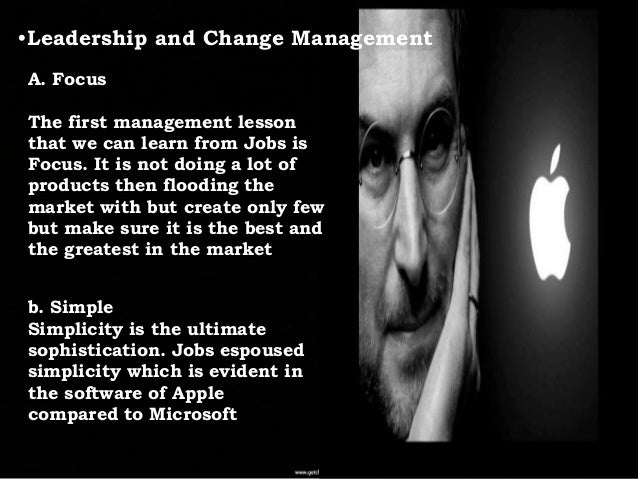 leadership style of steve jobs Steve jobs leadership style this essay will argue that steve jobs used all six distinct leadership styles explained by goleman (2000) and this brought back apple inc from the brink of oblivion and it into the most.