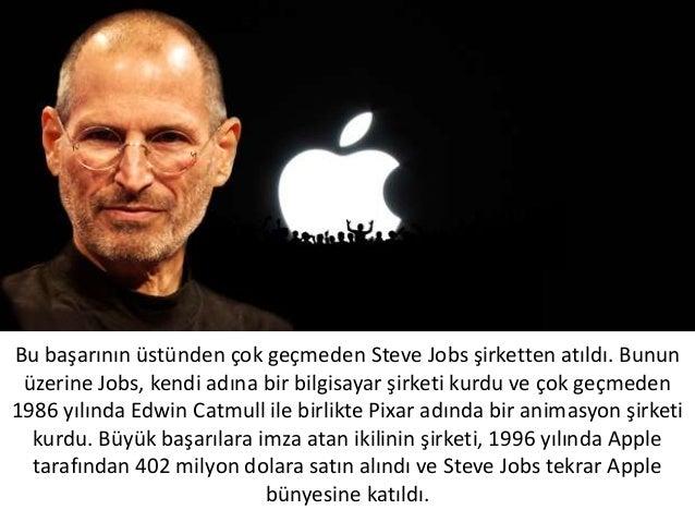 Bu başarının üstünden çok geçmeden Steve Jobs şirketten atıldı. Bununüzerine Jobs, kendi adına bir bilgisayar şirketi kurd...