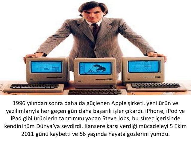 1996 yılından sonra daha da güçlenen Apple şirketi, yeni ürün veyazılımlarıyla her geçen gün daha başarılı işler çıkardı. ...