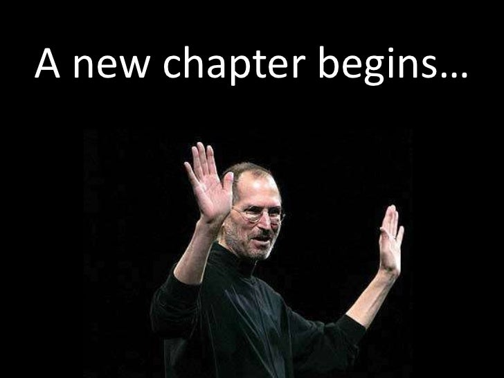 A new chapter begins…<br />