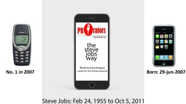 Steve Jobs Iphone Launch 2007 Born 29 Jun 2007No 1 In Rhetorical Techniques Used For