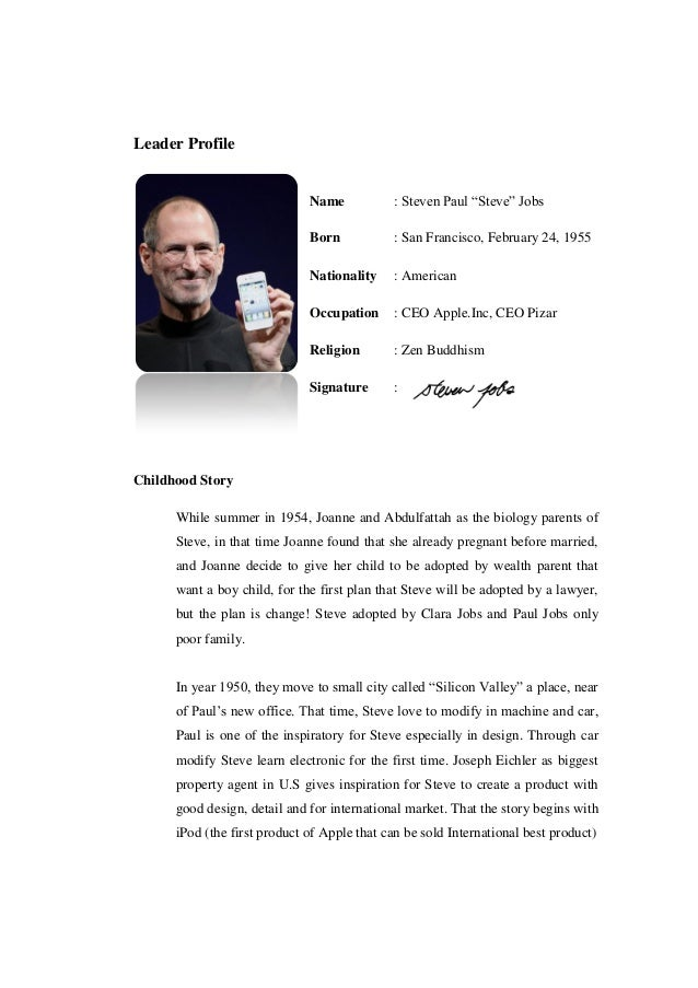 Essay on steve jobs leadership style