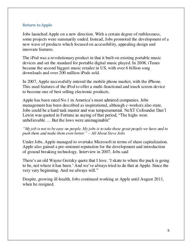 SlideShare  Steve Jobs Resume