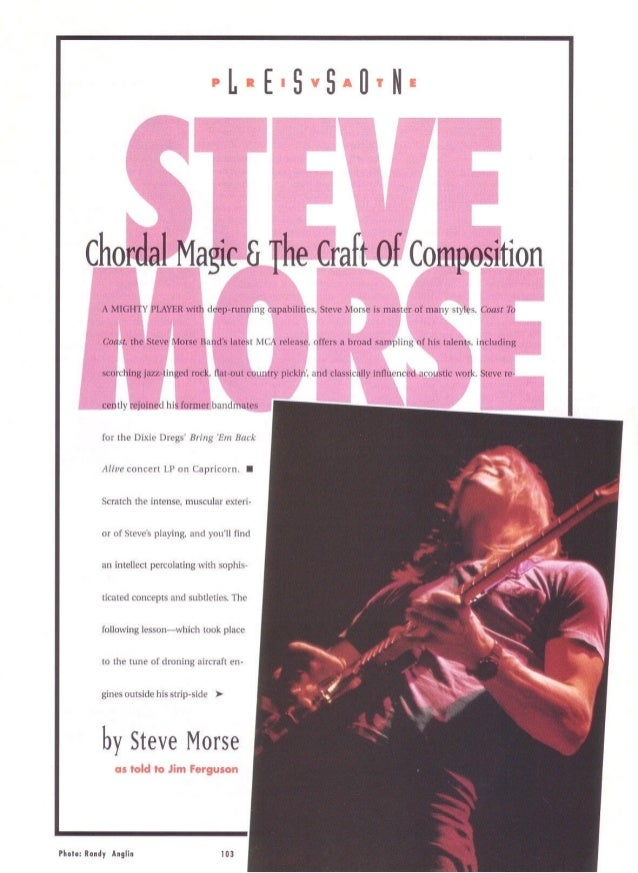 Steve morse chordal technique and the craft of composition for The craft of musical composition