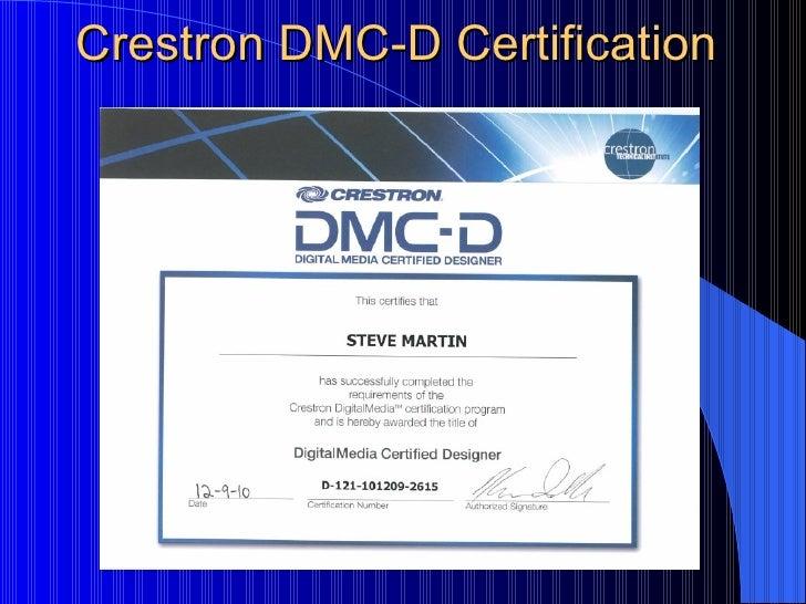 Steven D Martin Certifications