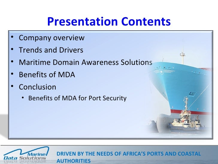 Vessel tracking, coastal surveillance and other navigational aids, particularly in the light of security concerns Slide 2