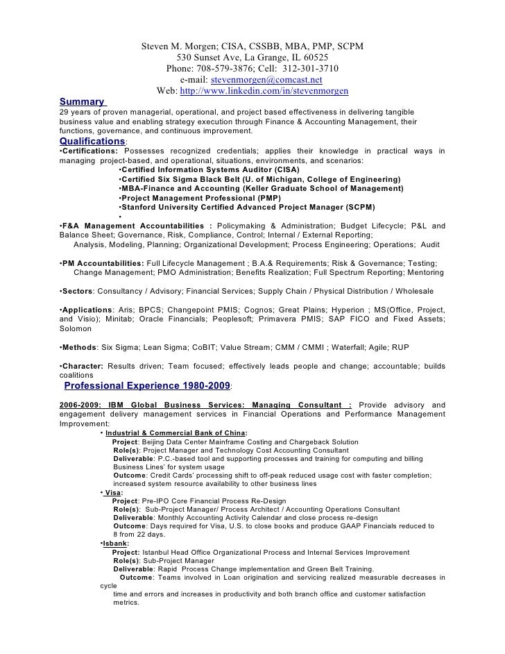 steven m morgen resume downloadable - Asset Manager Resume Sample