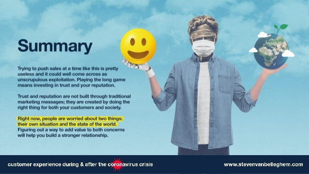 Customer Experience during & after the Corona Virus crisis Slide 2