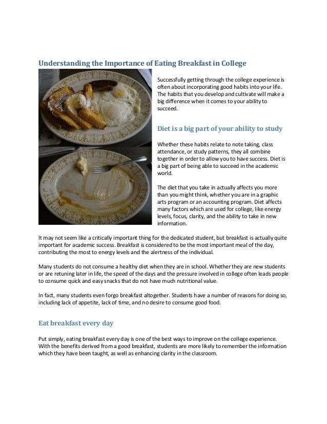 Understanding The Importance Of Eating Breakfast In College