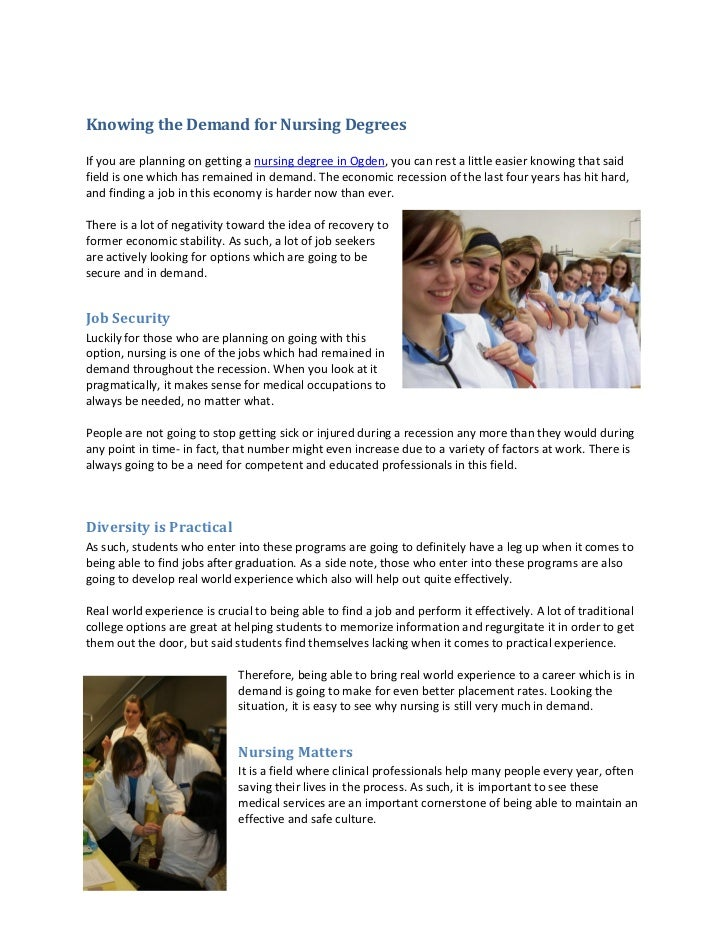 Knowing The Demand For Nursing Degrees
