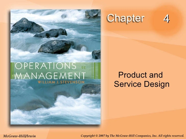 4 Product and  Service Design