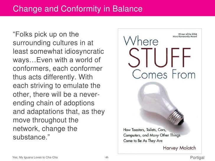 "Change and Conformity in BalanceClick to edit Master title style""Folks pick up on thesurrounding cultures in atleast somew..."