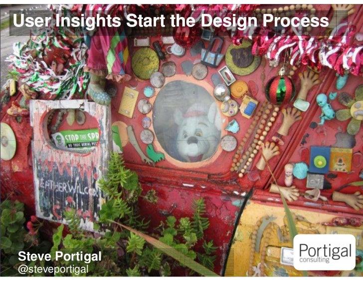 User Insights Start the Design Process    Steve Portigal1   @steveportigal