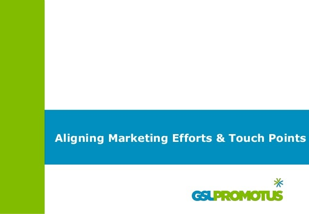 Aligning Marketing Efforts & Touch Points