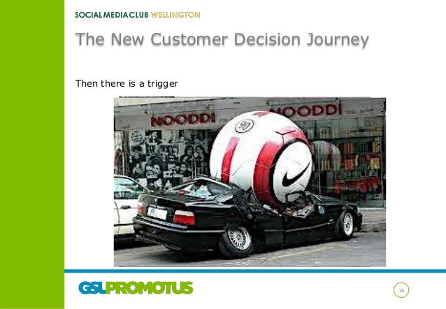 The New Customer Decision Journey Then there is a trigger  16