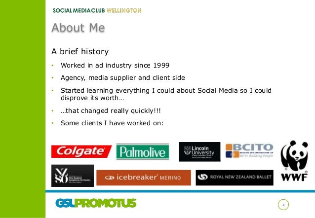 About Me A brief history •  Worked in ad industry since 1999  •  Agency, media supplier and client side  •  Started learni...