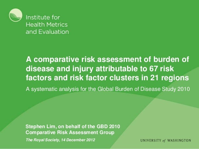 A comparative risk assessment of burden ofdisease and injury attributable to 67 riskfactors and risk factor clusters in 21...
