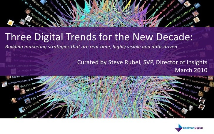 Three Digital Trends for the New Decade: Building marketing strategies that are real-time, highly visible and data-driven ...