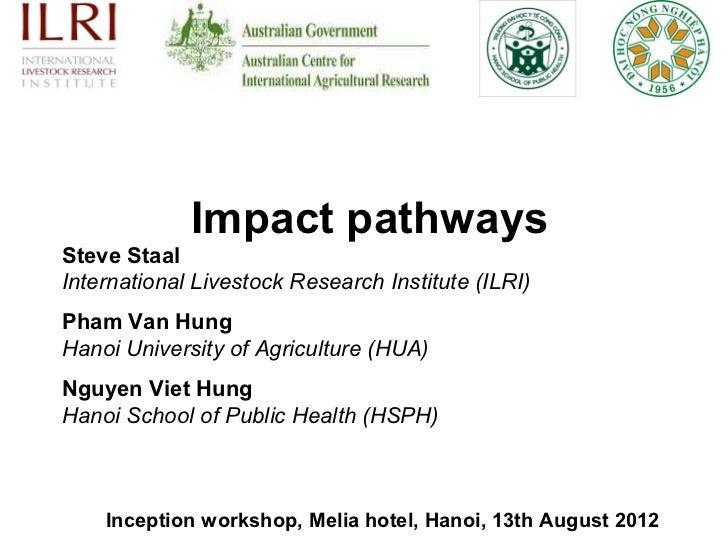 Impact pathwaysSteve StaalInternational Livestock Research Institute (ILRI)Pham Van HungHanoi University of Agriculture (H...