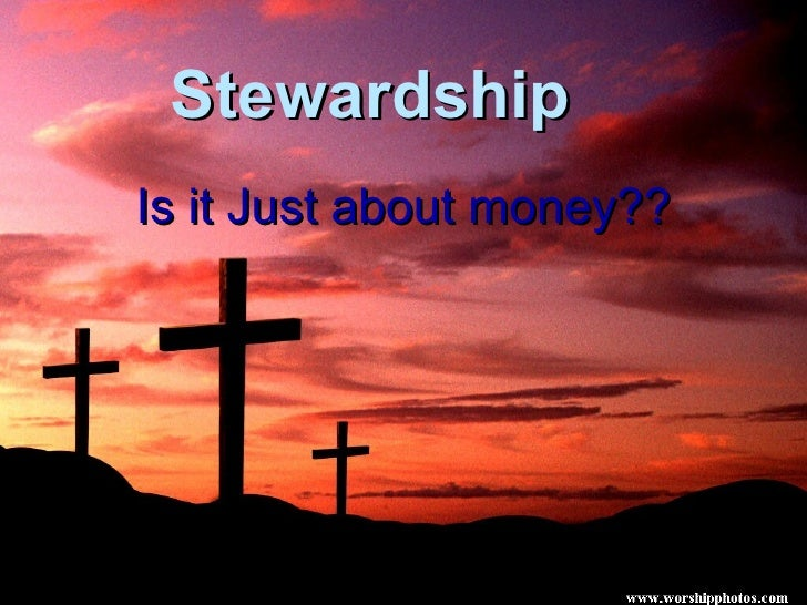Stewardship  Is it Just about money??