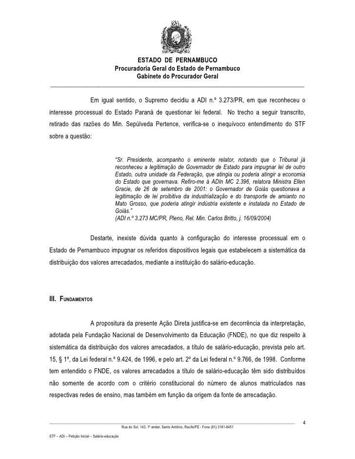 ESTADO DE PERNAMBUCO                     Procuradoria Geral do Estado de Pernambuco                            Gabinete do...