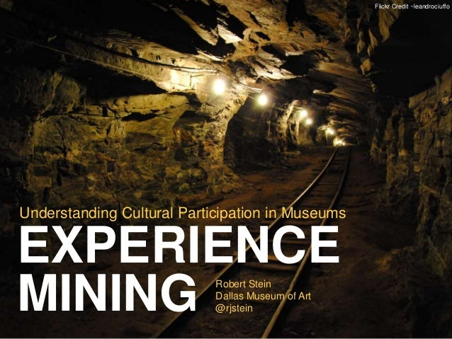 Flickr Credit ~leandrociuffo  Understanding Cultural Participation in Museums  EXPERIENCE  MINING  Robert Stein  Dallas Mu...