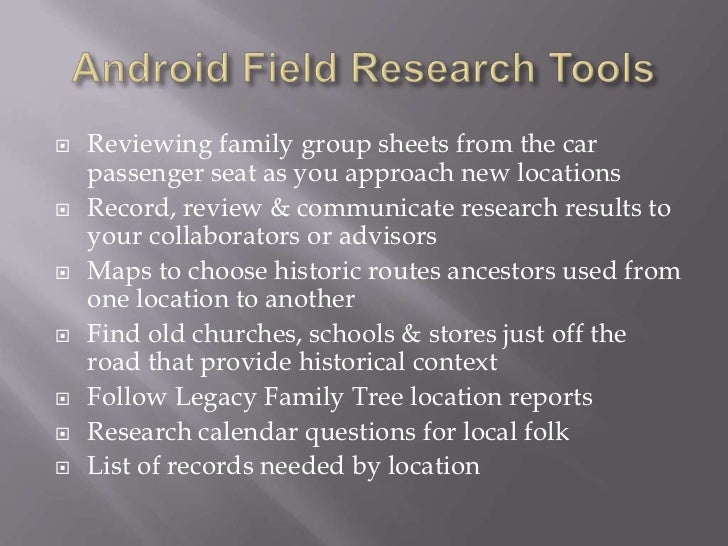 Genealogy Apps for Android Tablets