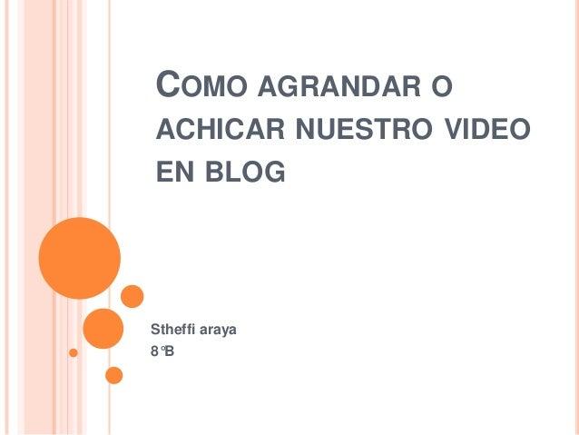 COMO AGRANDAR OACHICAR NUESTRO VIDEOEN BLOGStheffi araya8°B