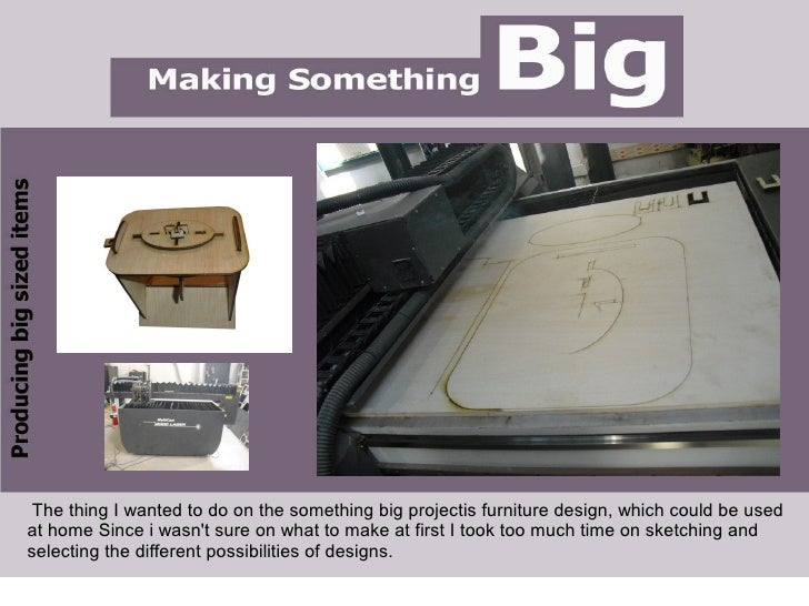 ●   .      The thing I wanted to do on the something big projectis furniture design, which could be used at home Since i w...